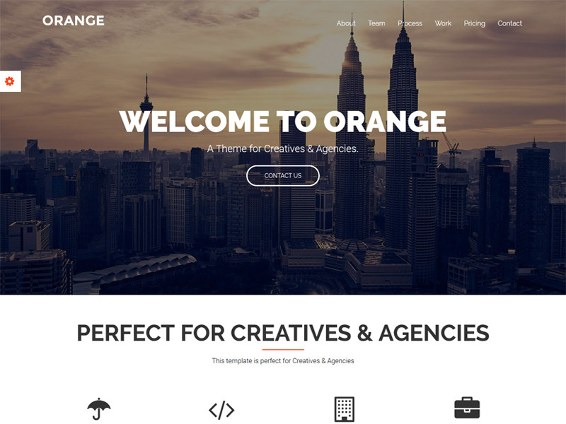 Image for Orange - One Page Bootstrap Website Template