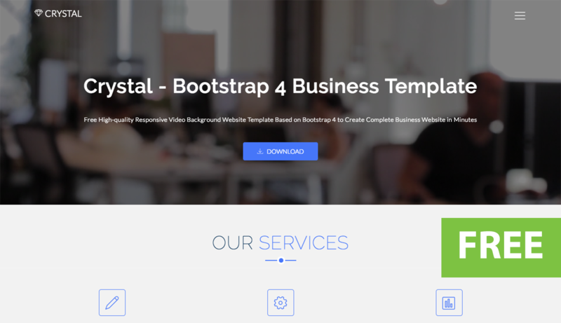uideckcom crystal bootstrap video background website template