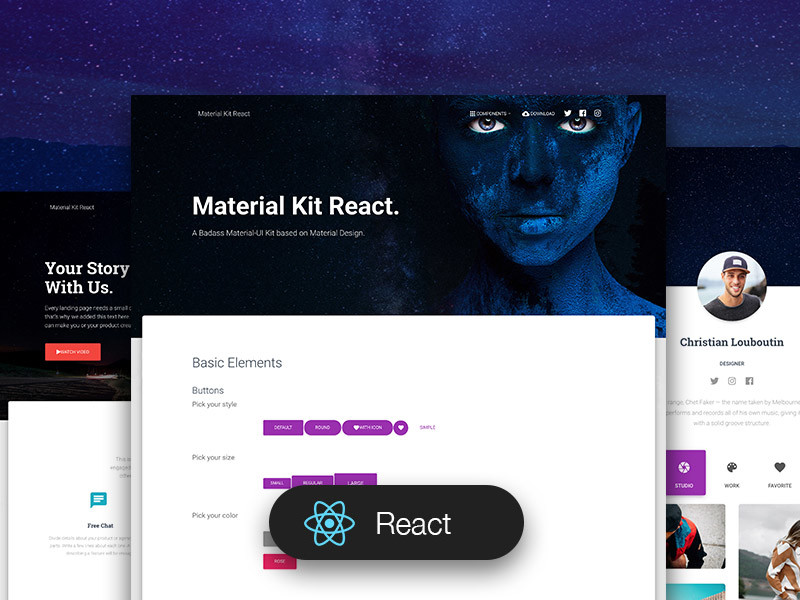 Image for Material Kit React