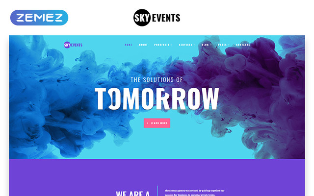 Event Multipage template