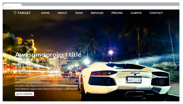 Thumbnail of Target Flat Bootstrap Template
