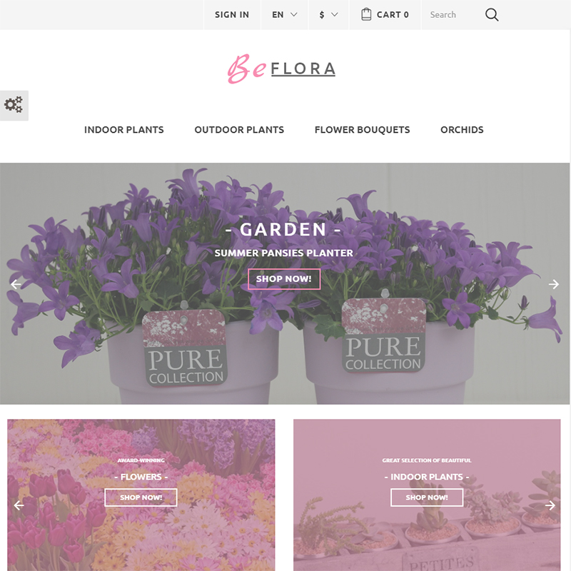 Flower Shop PrestaShop Template