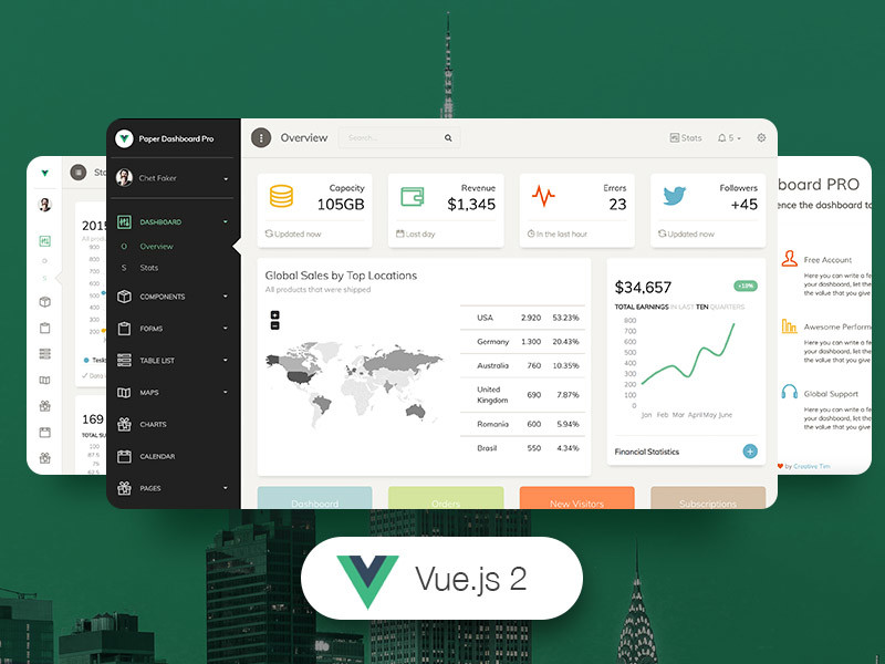 Image for Vue Paper Dashboard PRO by Creative Tim