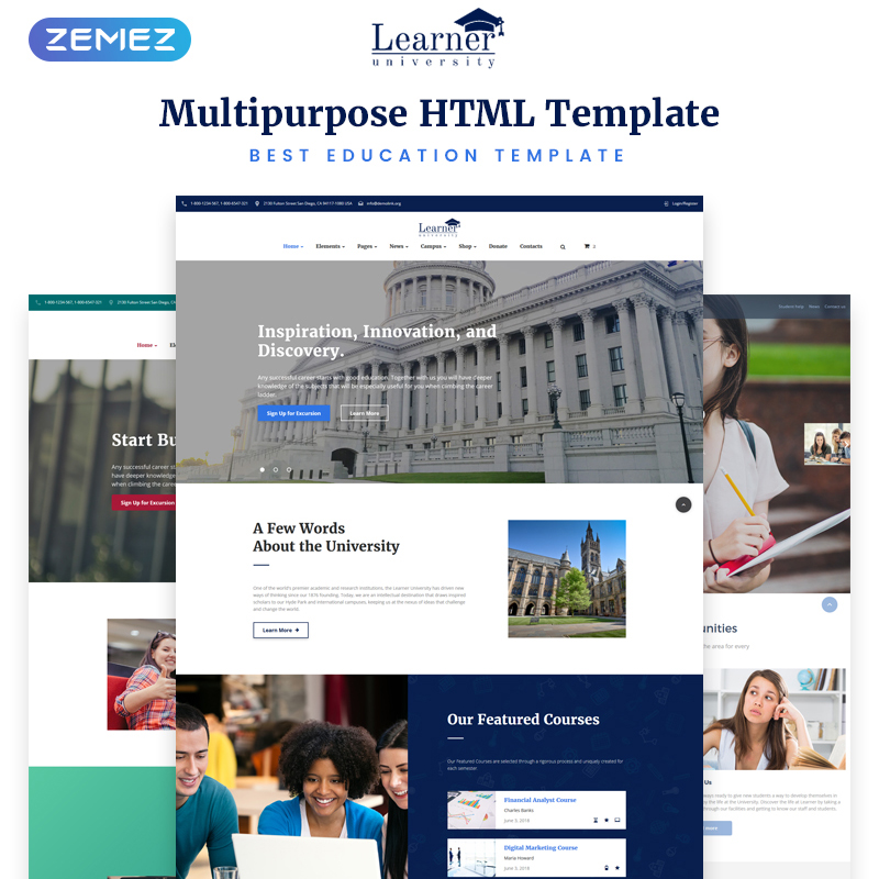 Multipurpose Education HTML5 Template