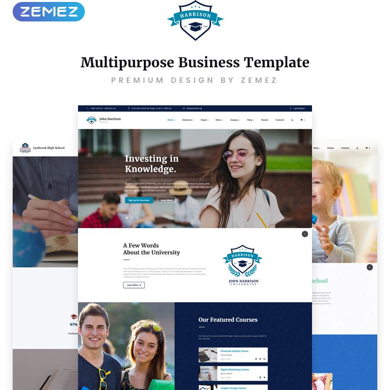 Education Multipage HTML Template