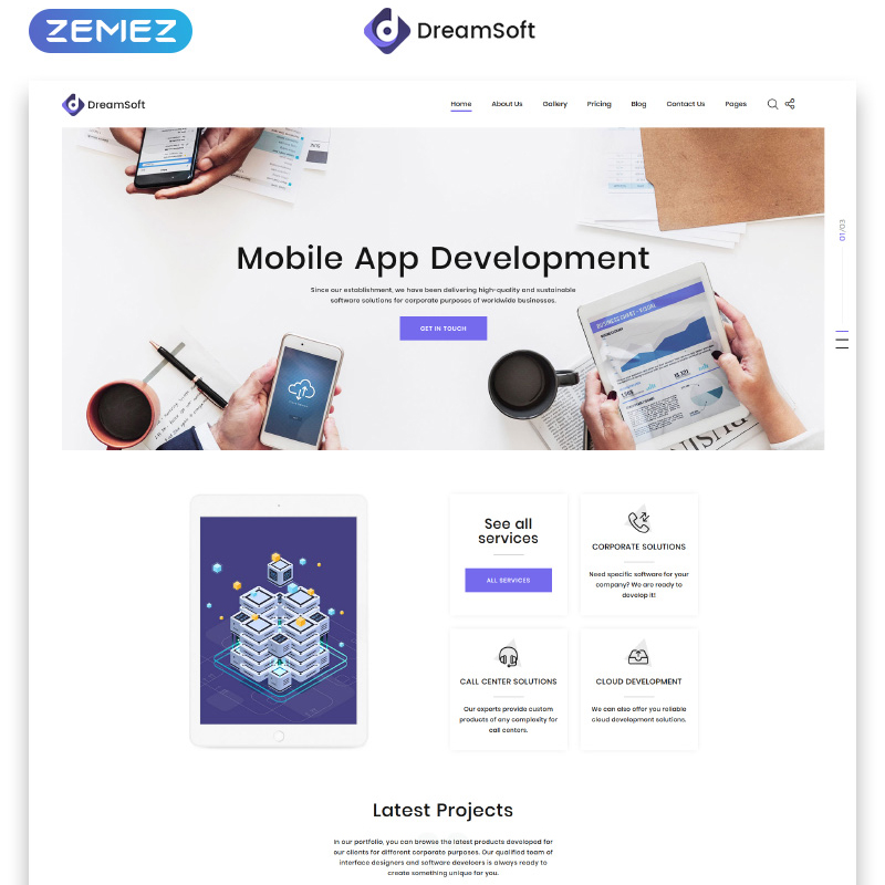 Web Development Multipage HTML Template