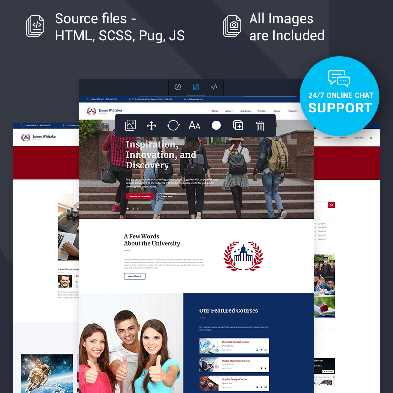 School Multipage HTML Template