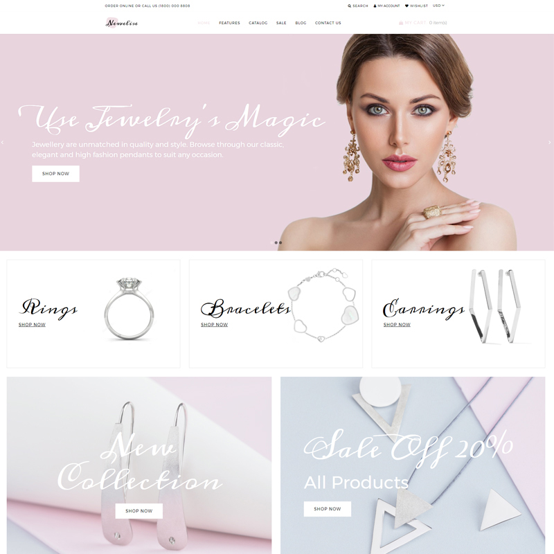 Newelise - Jewelry Elegant Minimalistic Shopify Theme