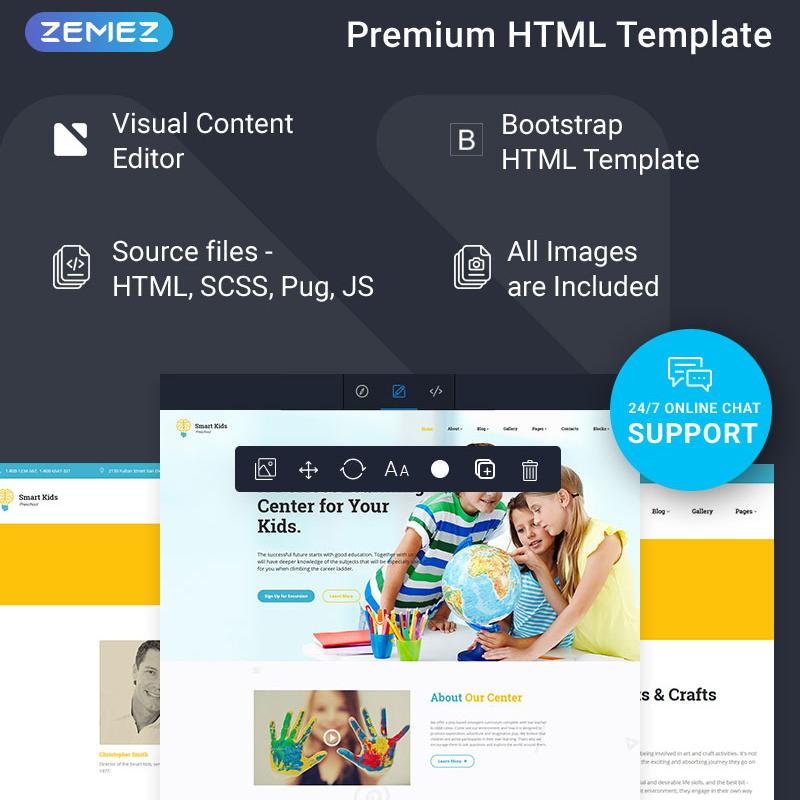 Smart Kids HTML Template
