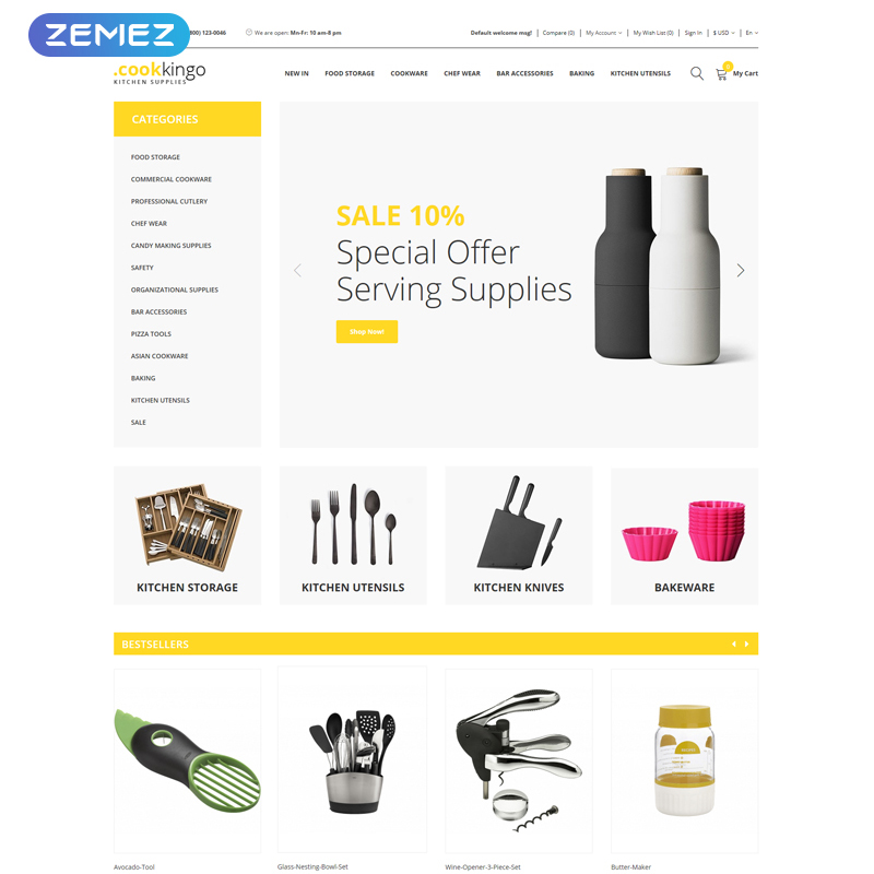 CookKingo - Kitchen Supplies Clean OpenCart Template