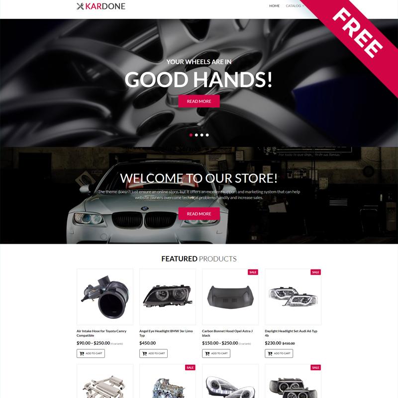 Kardone - Car Parts Free Clean Shopify Theme