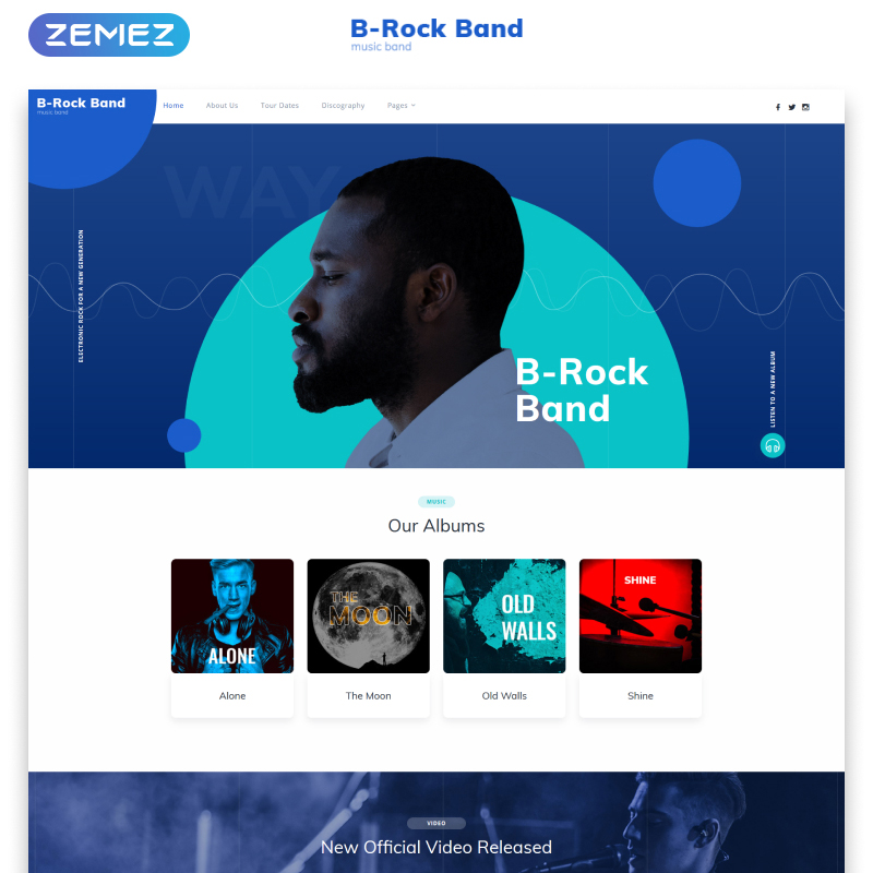 B-Rock Band Multipage HTML Template