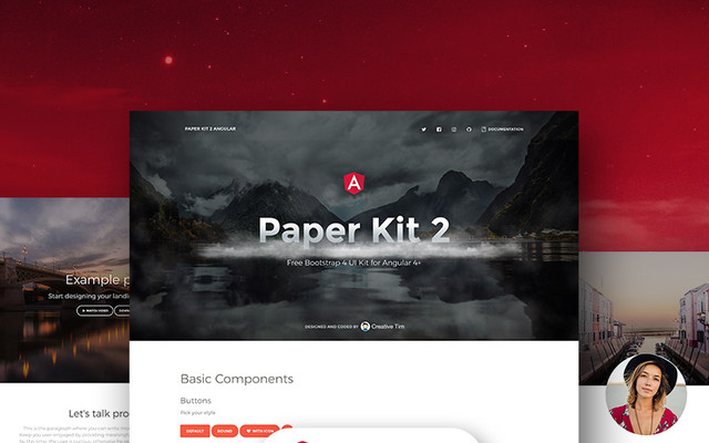 Thumbnail of Paper Kit 2 Angular by Creative Tim
