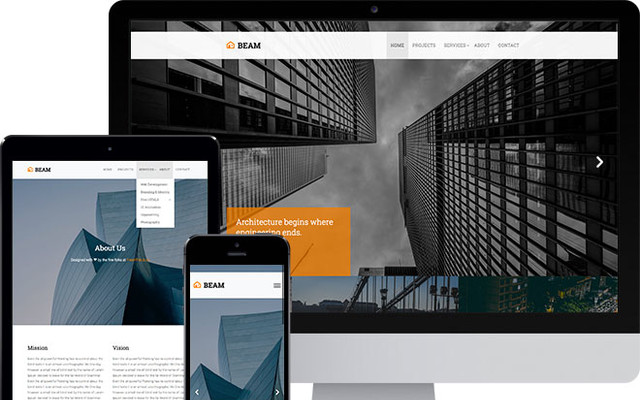 Beam Free Website Template Using Bootstrap template