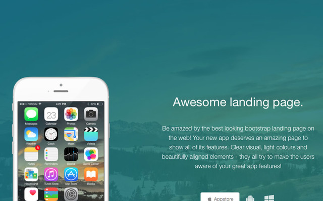 Thumbnail of Awesome Landing Page