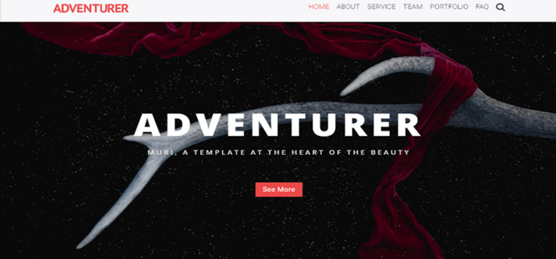 Image for Adventurer - One Page Creative HTML5 Page Template