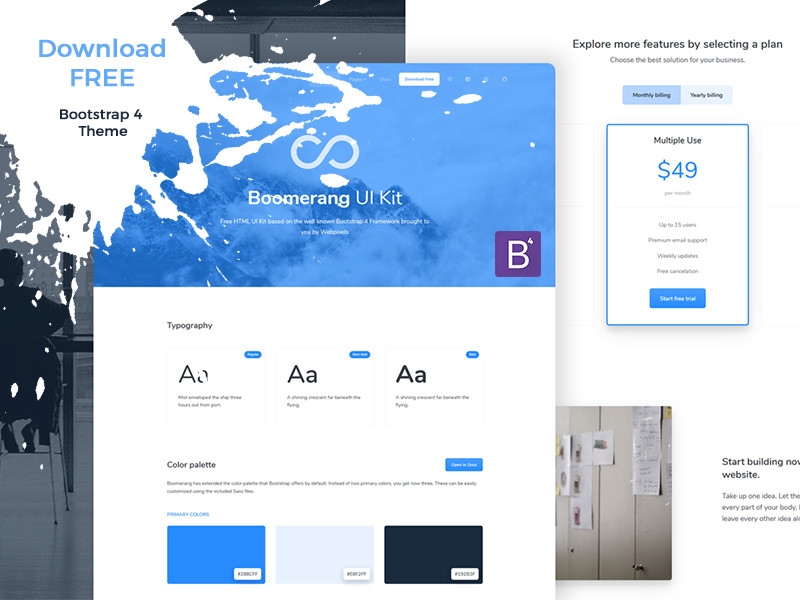 Image for Boomerang UI Kit Free
