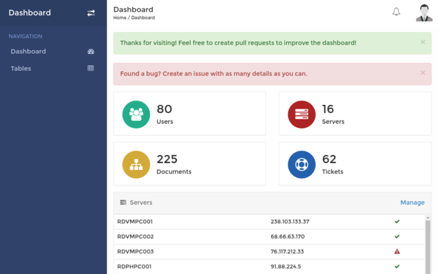 Thumbnail of Responsive Dashboard