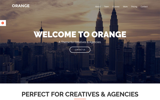 Orange - One Page Bootstrap Website Template template