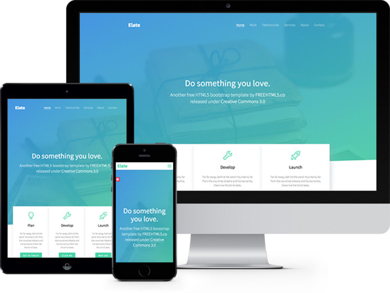 Thumbnail of Elate One Page HTML5 Bootstrap template