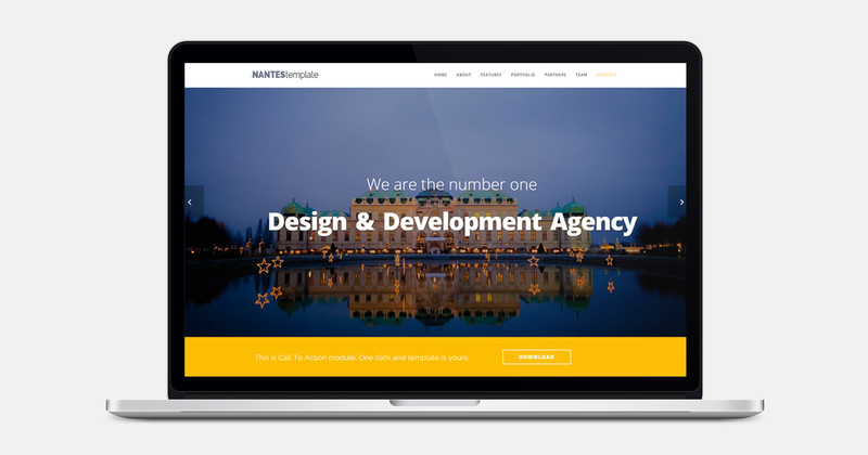 Image for Nantes - One Page Multipurpose Bootstrap Template