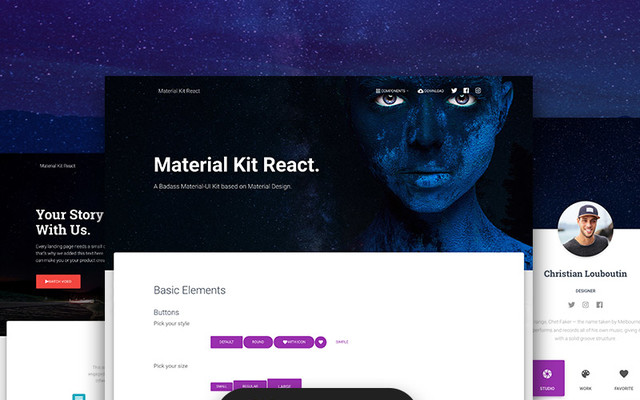 Material Kit React template