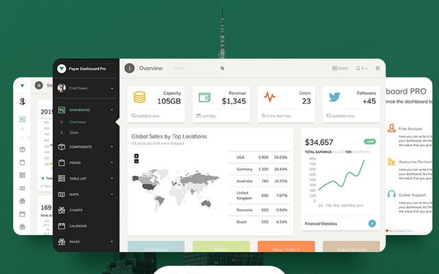 Vue Paper Dashboard PRO by Creative Tim thumbnail