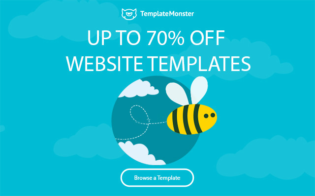 Huge sales at TemplateMonster - up to 70% OFF template