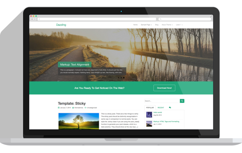 Image for Dazzling - Free Flat Design WordPress Business Theme