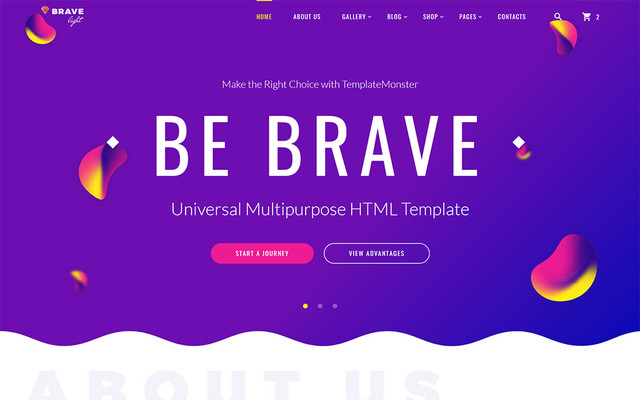 Brave Light - Universal Multipurpose HTML Template thumbnail