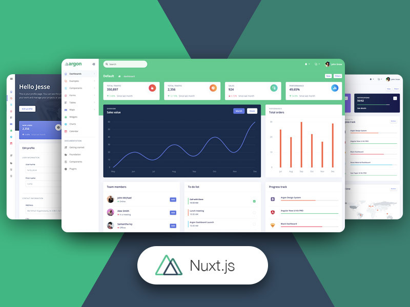 Image for Nuxt Argon Dashboard PRO