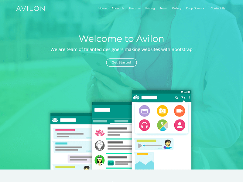 Image for Avilon Bootstrap Landing Page Template