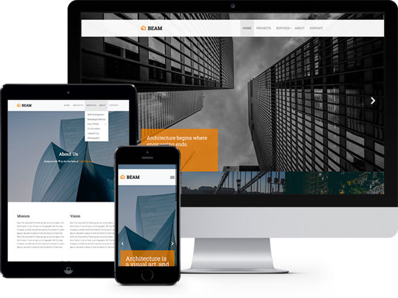 Image for Beam Free Website Template Using Bootstrap