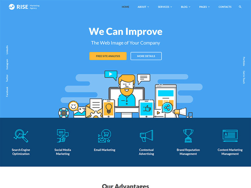 Image for Rise -Marketing - SEO Website Template