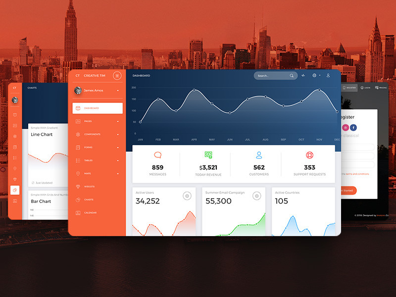 Image for NOW UI  Dashboard Pro
