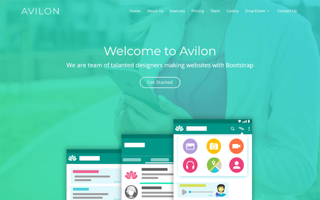 Thumbnail of Avilon Bootstrap Landing Page Template