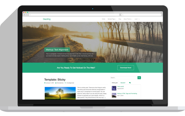 Thumbnail of Dazzling - Free Flat Design WordPress Business Theme