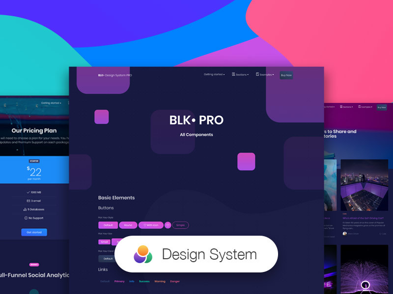 Image for BLK* Design System PRO by Creative Tim