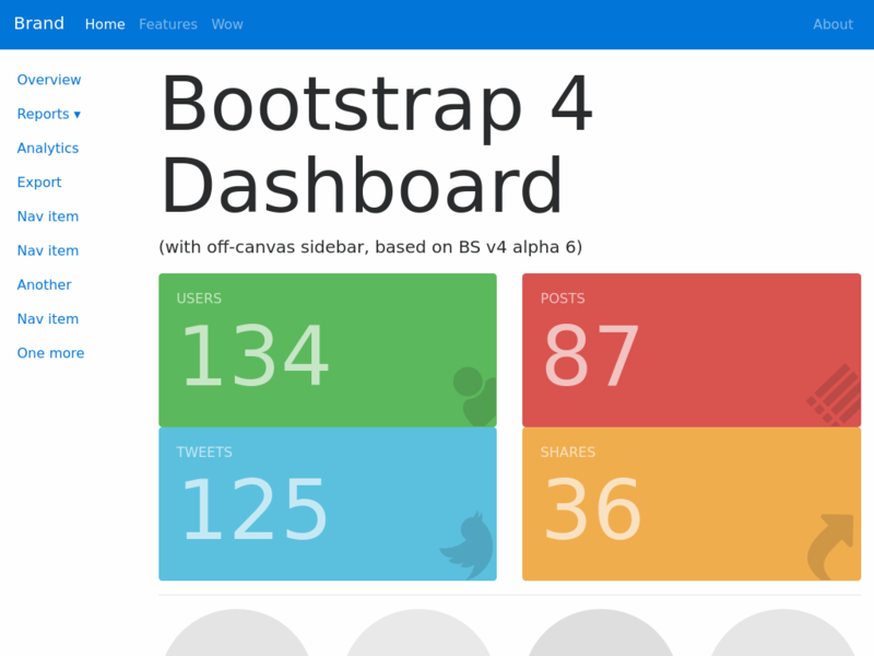 Image for Bootstrap 4 Admin Dashboard