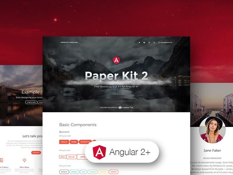 Image for Paper Kit 2 Angular by Creative Tim