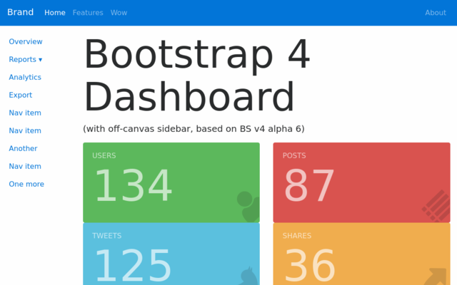 Thumbnail of Bootstrap 4 Admin Dashboard