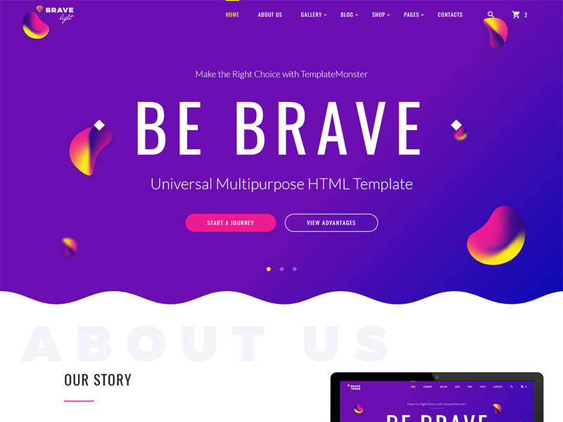 Image for Brave Light - Universal Multipurpose HTML Template
