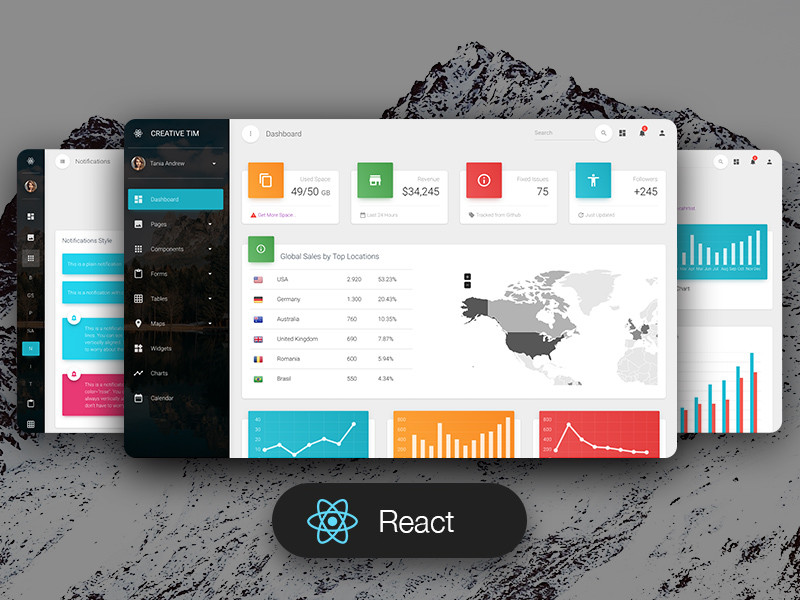 Image for Material Dashboard Pro React