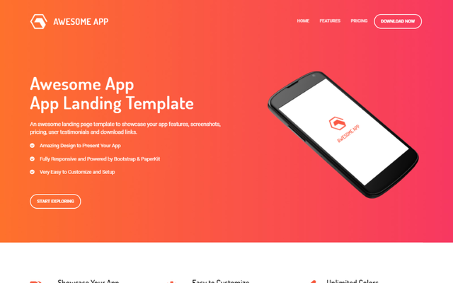 Thumbnail of Awesome App Landing Page